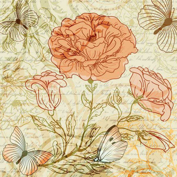 Retro rozen hand ontwerp achtergrond Stockfoto © 0mela
