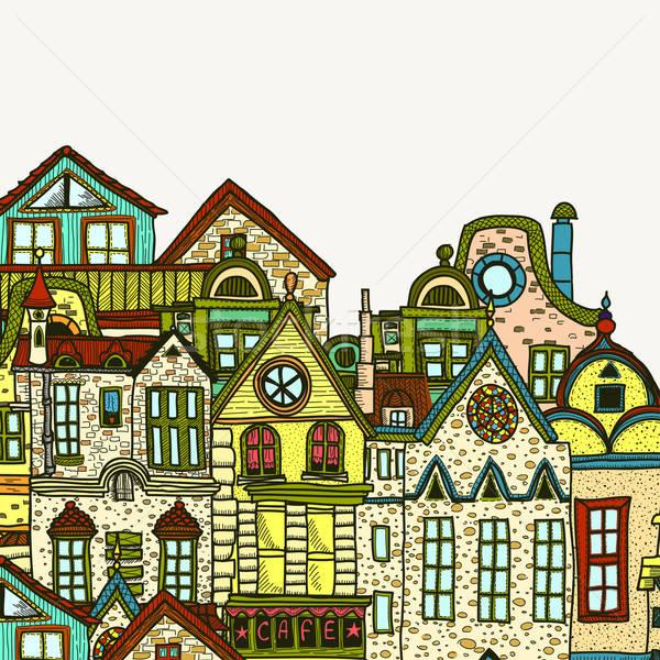Doku Bina duvar pencere taş Stok fotoğraf © 0mela