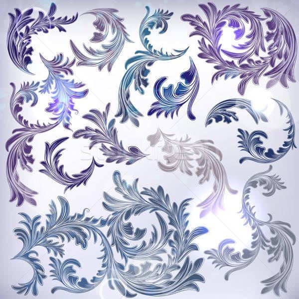 Ingesteld vintage ijzig textuur Stockfoto © 0mela