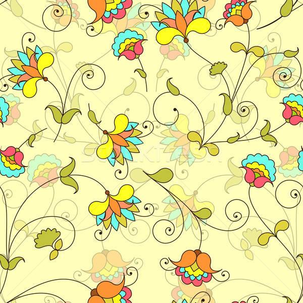 Vektör model çiçek kâğıt Stok fotoğraf © 0mela