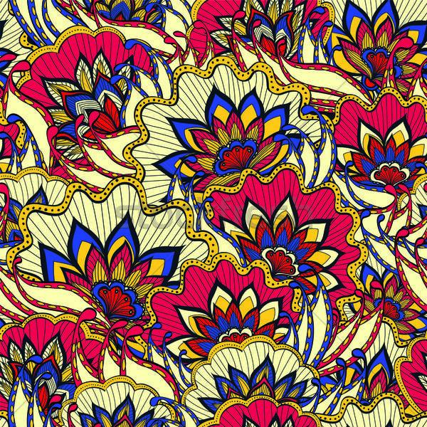 Primavera pattern colorato fiori fiore moda Foto d'archivio © 0mela