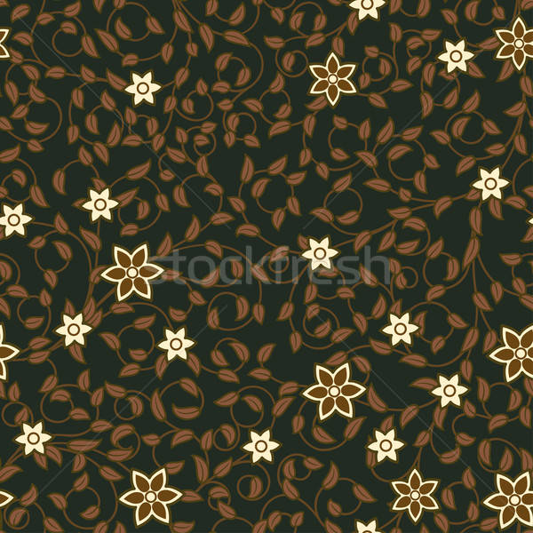 Vintage seamless pattern of weaving flowers Stock photo © 0mela