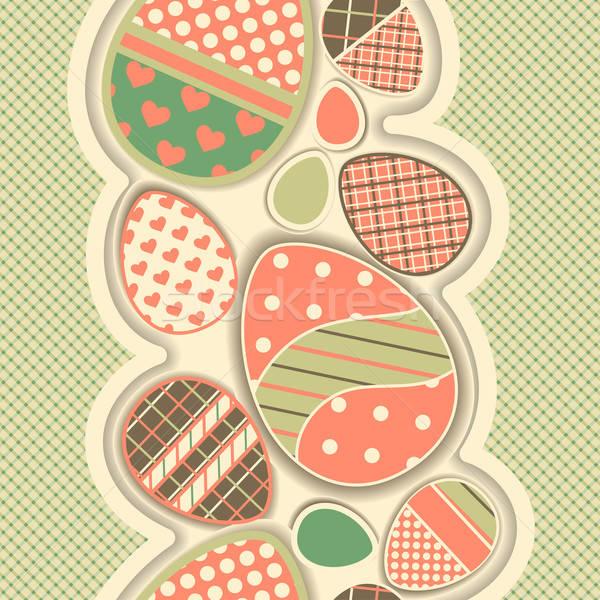 Húsvét retro végtelenített keret tojások összes Stock fotó © 0mela
