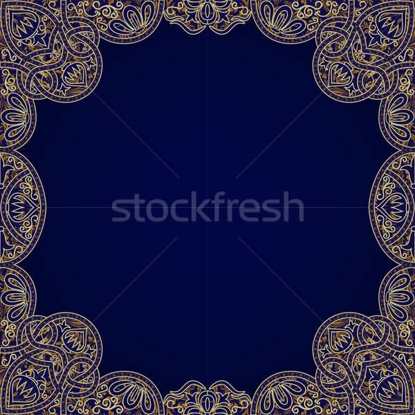 Vector floral arabesque seamless background Stock photo © 0mela