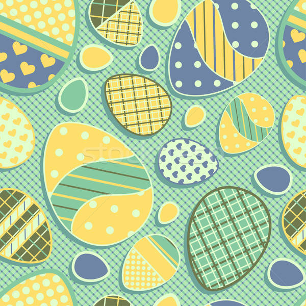 Naadloos Pasen patroon eieren textuur voorjaar Stockfoto © 0mela