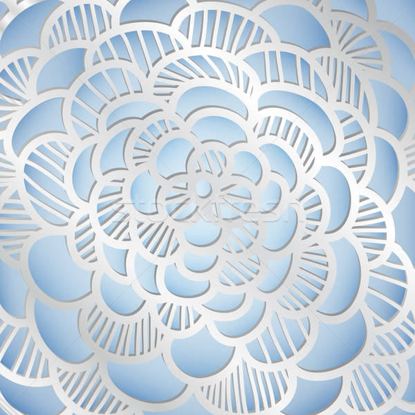 Abstract zilver wolken mode glas sneeuw Stockfoto © 0mela