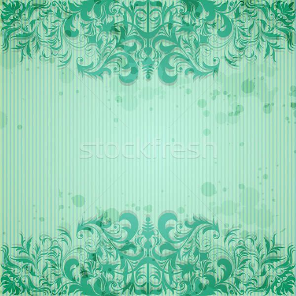 Klasszikus keret koszos papír terv szett Stock fotó © 0mela