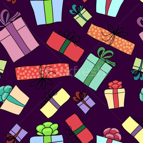 Scatola regalo carta texture compleanno arte Foto d'archivio © 0mela