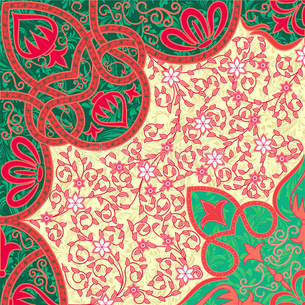 Vecteur floral texture design fond vert Photo stock © 0mela