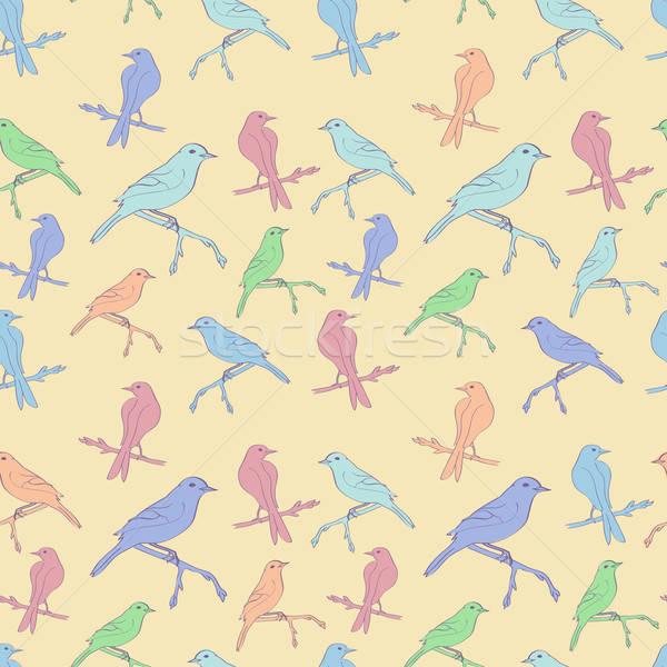 Kuşlar doku orman doğa dizayn Stok fotoğraf © 0mela