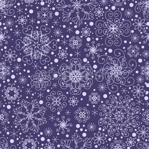Flocons de neige modèle nature design neige Photo stock © 0mela