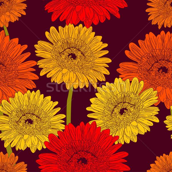 Színes virág végtelen minta természet terv levél Stock fotó © 0mela