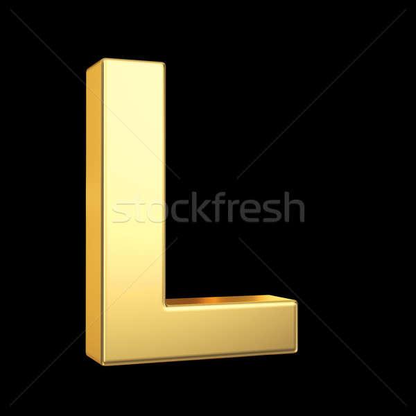 3D or lettre noir isolé Photo stock © 123dartist