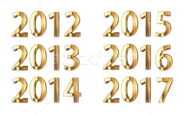 Golden year numbers 2012-2017 Stock photo © 123dartist