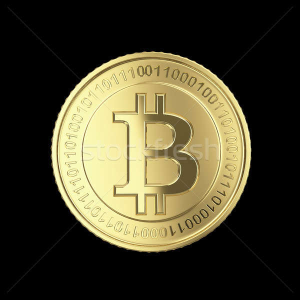 Gouden bitcoin digitale valuta munten geïsoleerd Stockfoto © 123dartist