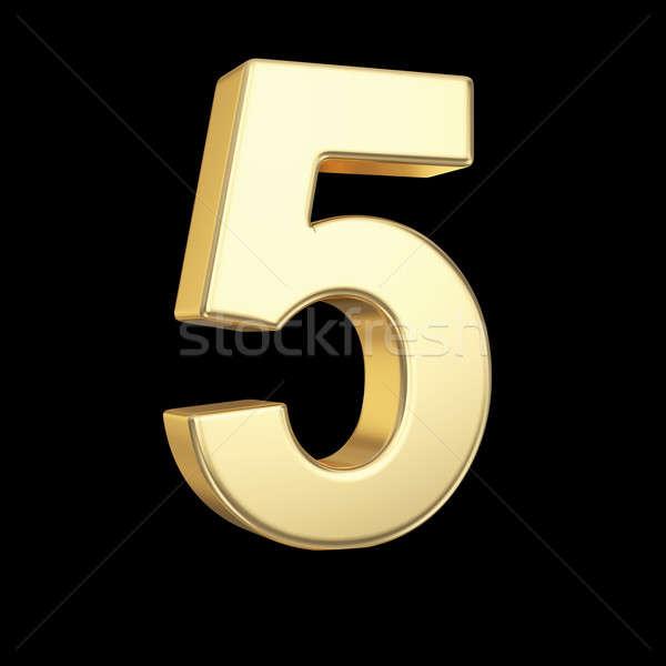 Number five Stock photo © 123dartist