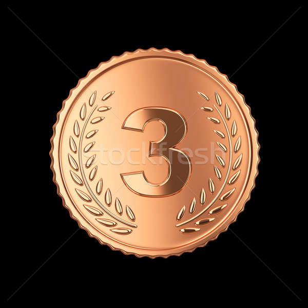 Bronze médaille noir isolé métal Photo stock © 123dartist
