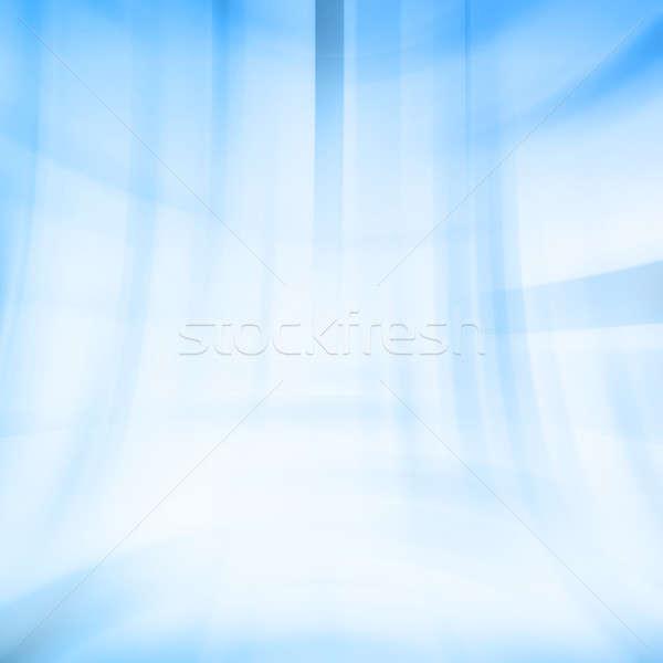 Photo stock: Bleu · numérique · ordinateur · généré · illustration · eau