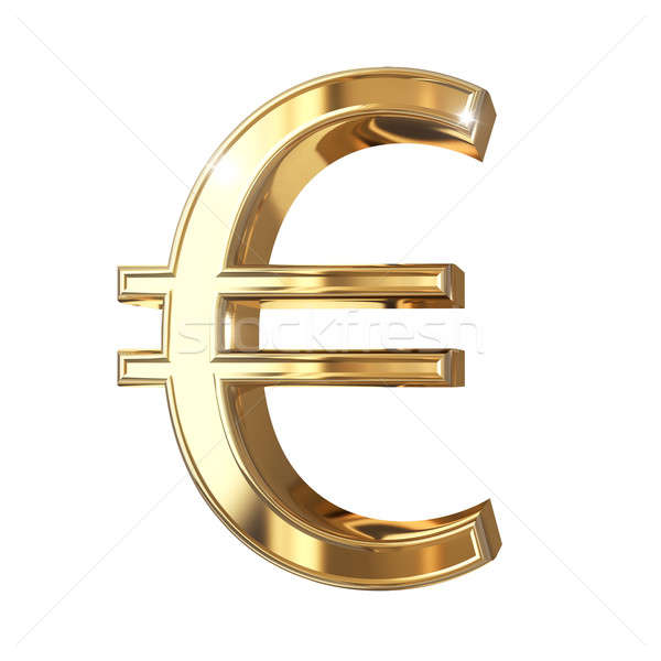 Or euros monnaie isolé blanche 3D Photo stock © 123dartist