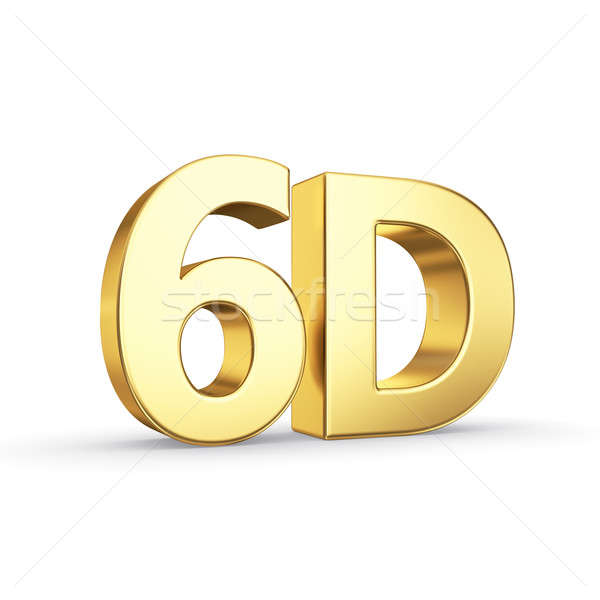 Golden 6D symbol isolated on white Stock photo © 123dartist