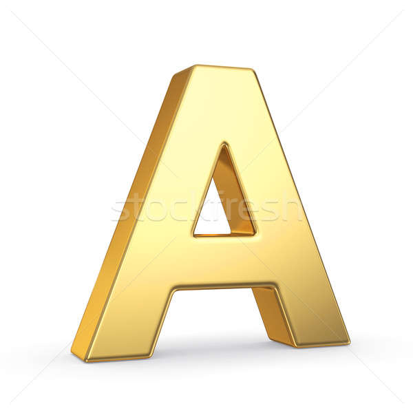 Stock photo: Golden letter on white
