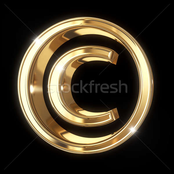 Diritto d'autore simbolo 3D isolato Foto d'archivio © 123dartist