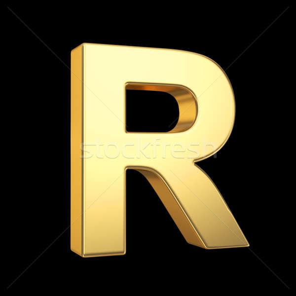 3D golden letter on black -  isolated Stock photo © 123dartist