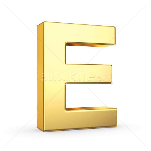 Golden letter on white Stock photo © 123dartist