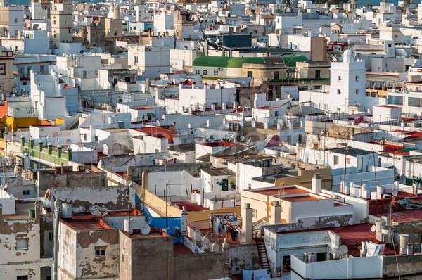 Hoog gebouwen foto huis stad stedelijke Stockfoto © 1Tomm