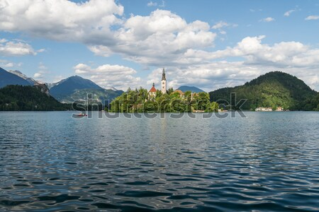 Lake Bled with church. Stock photo © 1Tomm