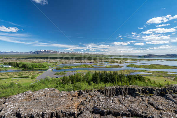 Scenic view of famous Thingvellir, Iceland. Stock photo © 1Tomm