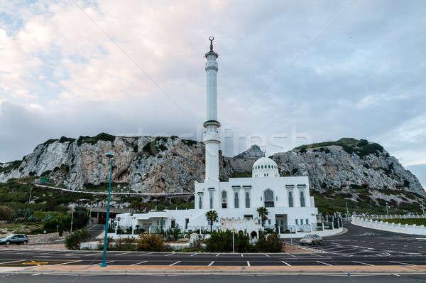 белый мечети точки фотография Гибралтар морем Сток-фото © 1Tomm