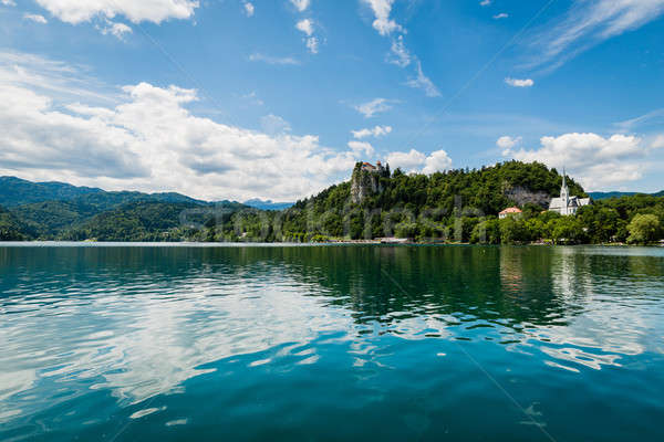 Scenic view of Bled Lake, Slovenia. Stock photo © 1Tomm