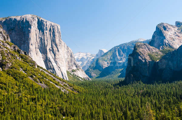 Photo stock: Yosemite · vallée · vue · célèbre · chaud · été
