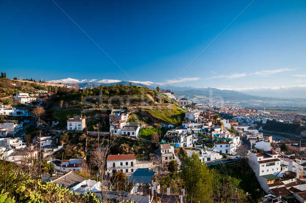 White homes in Granada, Spain. Stock photo © 1Tomm
