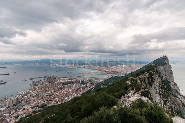 Гибралтар рок города панорамный мнение Сток-фото © 1Tomm