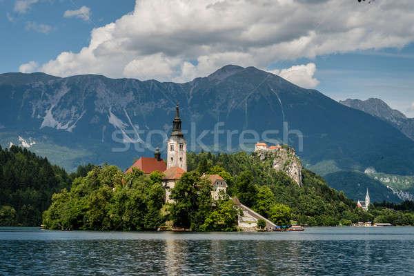 живописный мнение озеро известный Словения паломничество Сток-фото © 1Tomm