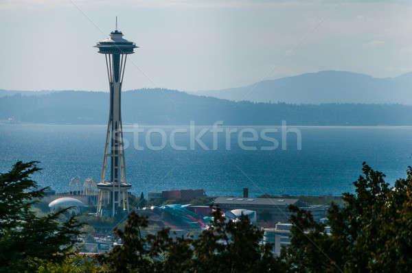 Espace aiguille Seattle vue célèbre symbole Photo stock © 1Tomm
