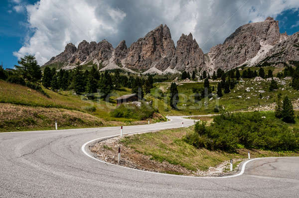 View of the road in the Dolomites near Passo Gardena. Stock photo © 1Tomm