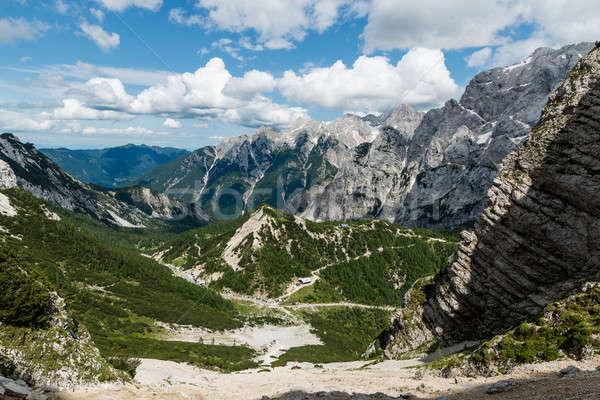Tájkép kilátás Alpok Szlovénia hegy terjedelem Stock fotó © 1Tomm