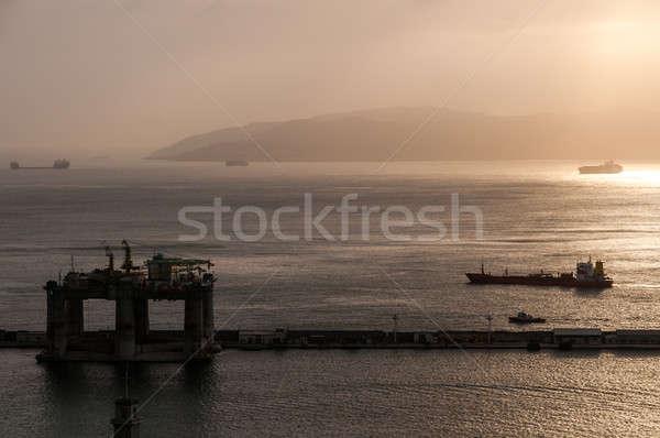 Photo stock: Cargo · gibraltar · vue · affaires · mer