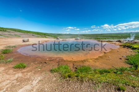 Geothermal spring in Geysir area, Iceland. Stock photo © 1Tomm