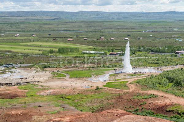 Vue célèbre geyser Islande nature paysage Photo stock © 1Tomm