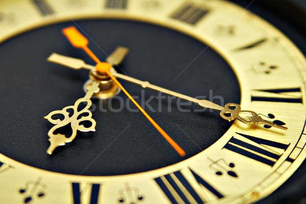 Klok bellen oude zwarte teken goud Stockfoto © 26kot