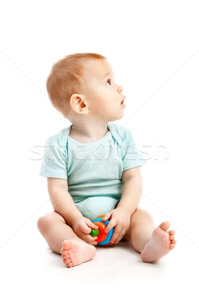 Küçük çocuk yalıtılmış beyaz bebek gözler Stok fotoğraf © 26kot
