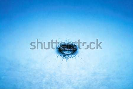 water drop (image 10 of 51, I have all phases of falling drop) Stock photo © 26kot