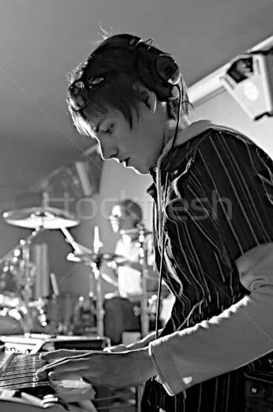 Zdjęcia stock: Muzycy · muzyki · grupy · klub · strony · człowiek