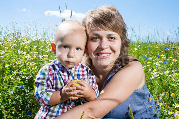 portrait of mother and baby Stock photo © 26kot