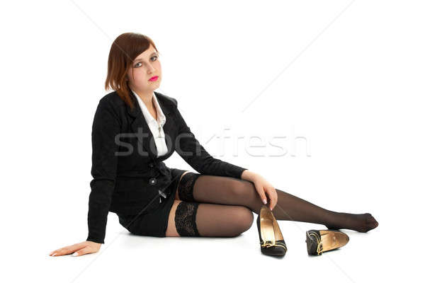 weary brunette Stock photo © 26kot