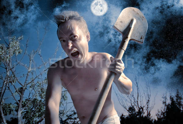 crazy man Stock photo © 26kot